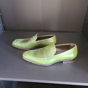 Dsquared green leather loaners